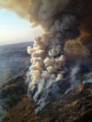 A photograph of the Eagle Creek wildfire in Montana, taken in late September, 2012. As of Oct. 24, wildfires nation-wide have burned through an area larger than Maryland, which is the second-largest area burned, year-to-date, since the 1960s.