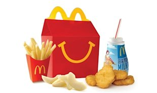 McDonald's Happy Meals to give out books