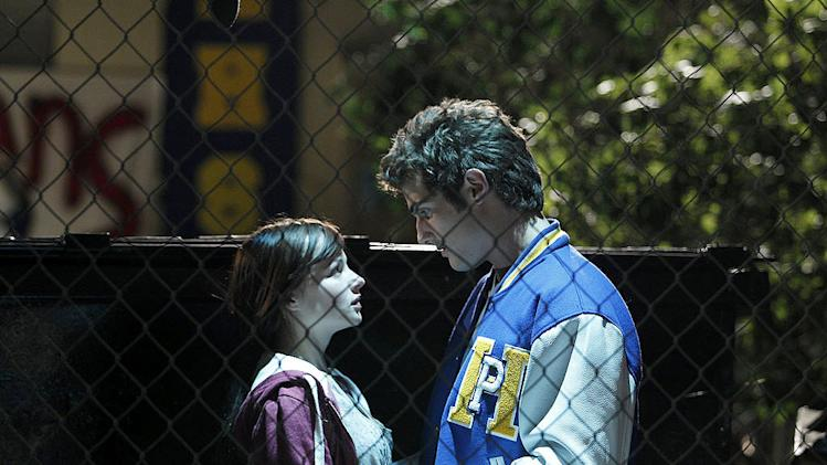 "Ashley Rickards as Jenna and Beau Mirchoff as Matty in ""Awkward."""