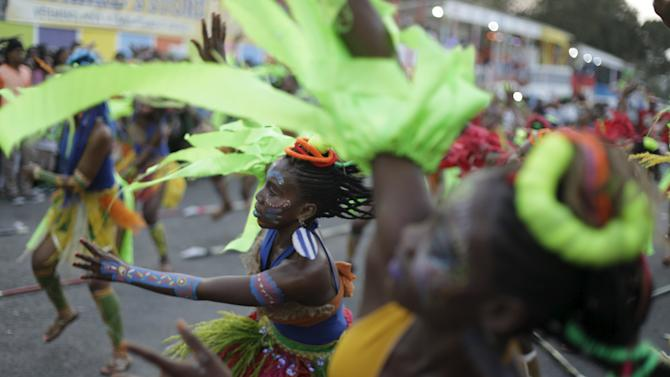 Revellers take part in the Carnival 2016 parade in Port-au-Prince, Haiti