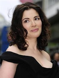 British chef and food writer Nigella Lawson arrives for the British premiere of the film Bruno at Leicester Square in central London June 17, 2009. REUTERS/Toby Melville/Files