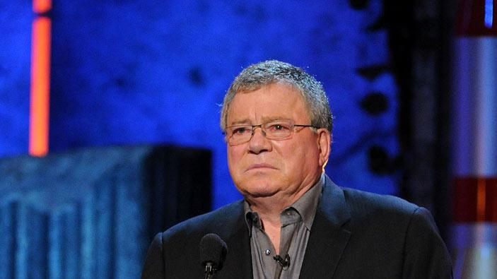 Actor William Shatner speaks onstage at Comedy Central's Roast of Charlie Sheen.
