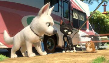 Bolt, Mittens and Rhino in Walt Disney Pictures' Bolt