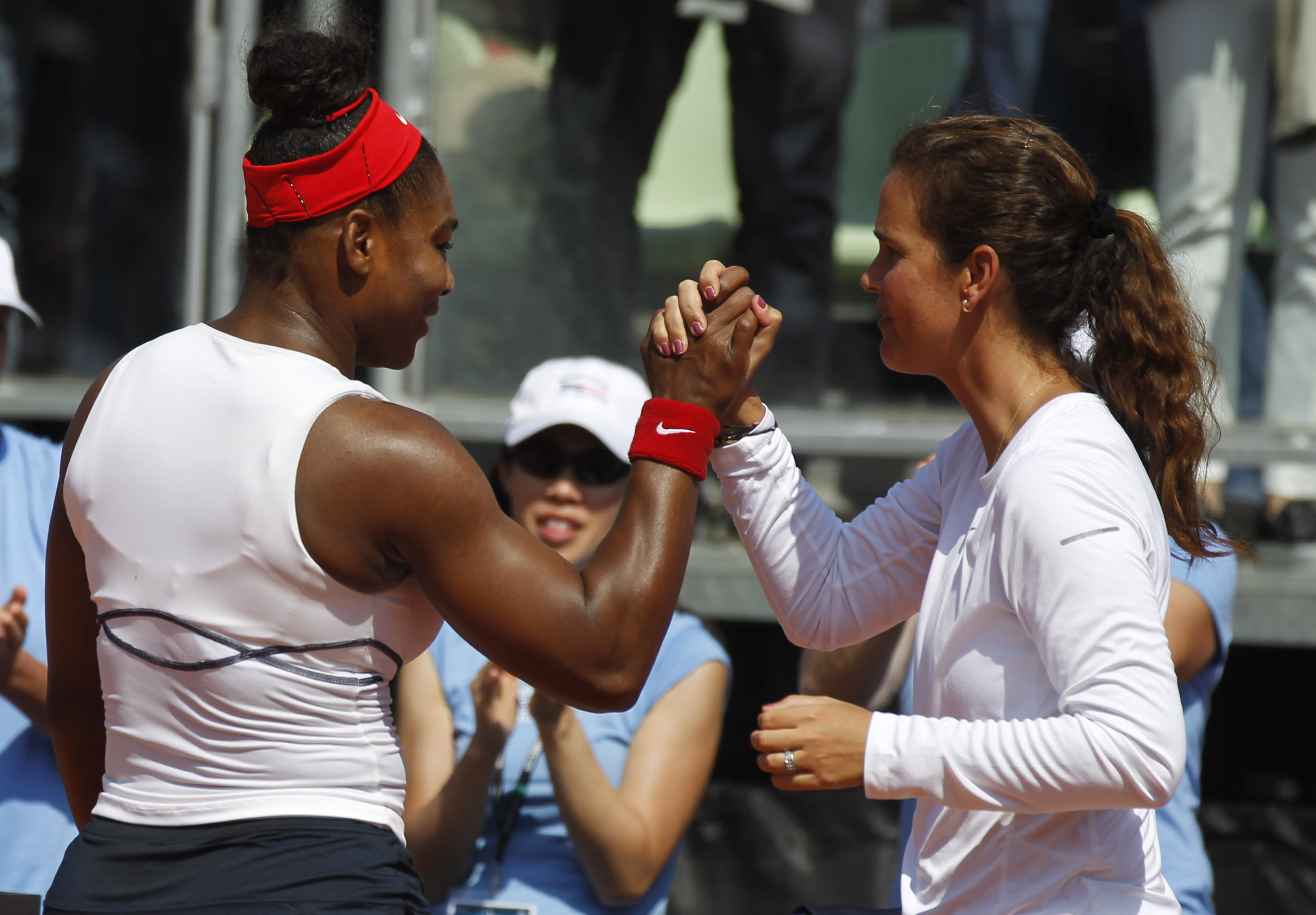 Serena Williams gets a rare test from Giorgi but holds on