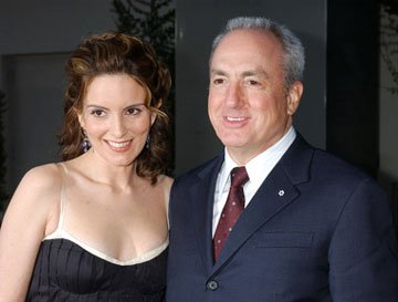 Premiere: Tina Fey and producer Lorne Michaels at the L.A. premiere of Paramount's Mean Girls - 4/19/2004