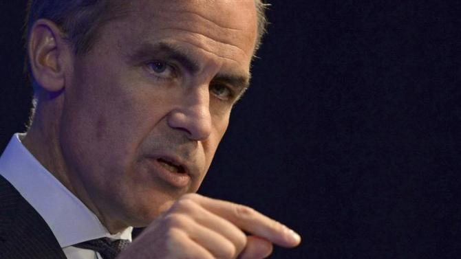 Bank of England governor Mark Carney addresses business leaders in Nottingham, central England