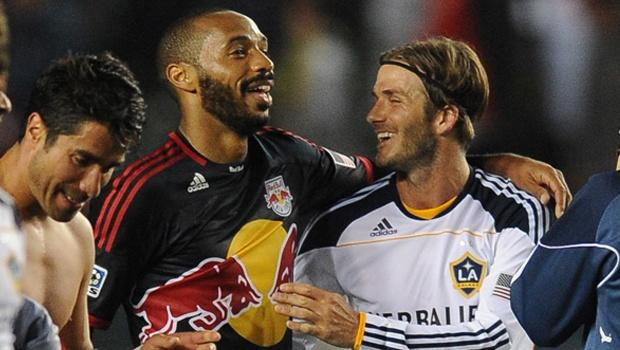 "New York Red Bulls' Thierry Henry glowing in praise of David Beckham: ""He was a great professional"""