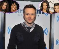 Joel McHale, inset: Khloe Kardashian and Kris Jenner, Kim Kardashian and Kourtney Kardashian -- Getty Images