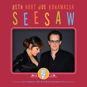 "This CD cover image released by J&R Adventures shows ""Seesaw,"" the latest release by Beth Hart and Joe Bonamassa. (AP Photo/J&R Adventures)"
