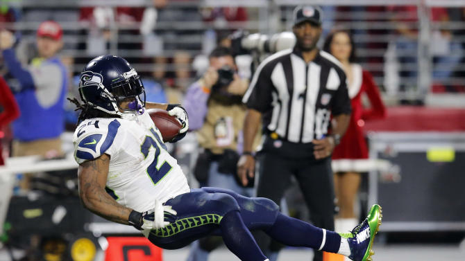 Seahawks' Lynch fined $11K for gesture on TD run