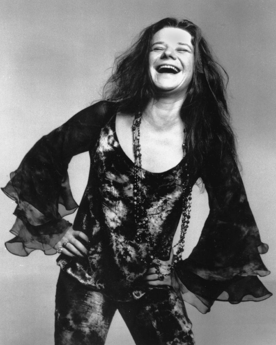 "FILE - This Oct. 1970 file photo shows rock singer Janis Joplin. Producers said Wednesday, June 26, 2013, that the musical ""A Night With Janis Joplin"" starring Mary Bridget Davies as the singer will start previews at the Lyceum Theatre in New York on Sept. 20. (AP Photo, File)"