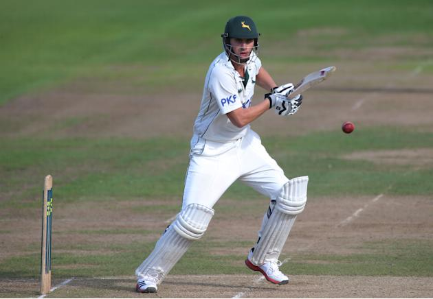 Alex Hales struck an unbeaten 155 for Nottinghamshire