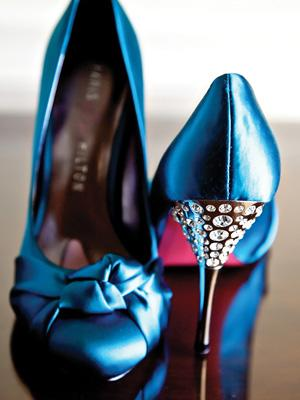 Blue Jewel Pumps