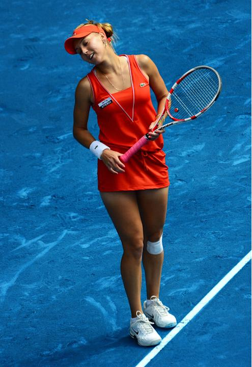 Elena Vesnina Of Russia Reacts Getty Images