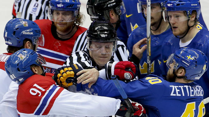 Swedes' Henrik Zetterberg out for rest of Olympics