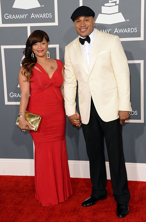 The 55th Annual GRAMMY Awards - Arrivals: LL Cool J and Simone Johnson