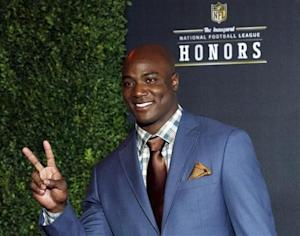 Dallas Cowboys DeMarcus Ware arrives for the Inaugural National Football League Honors at Super Bowl XLVI in Indianapolis