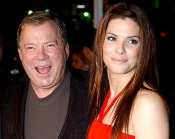 William Shatner and Sandra Bullock at the Hollywood premiere of Warner Bros. Pictures' Miss Congeniality 2: Armed and Fabulous