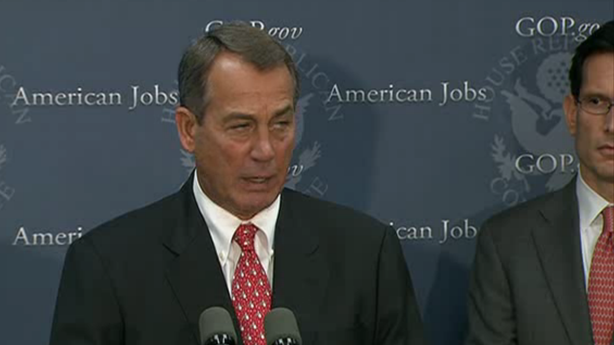 White House Rejects Boehner's Plan B