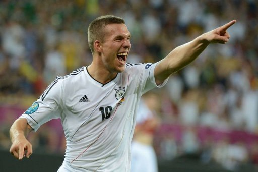 German forward Lukas Podolski&nbsp;&hellip;