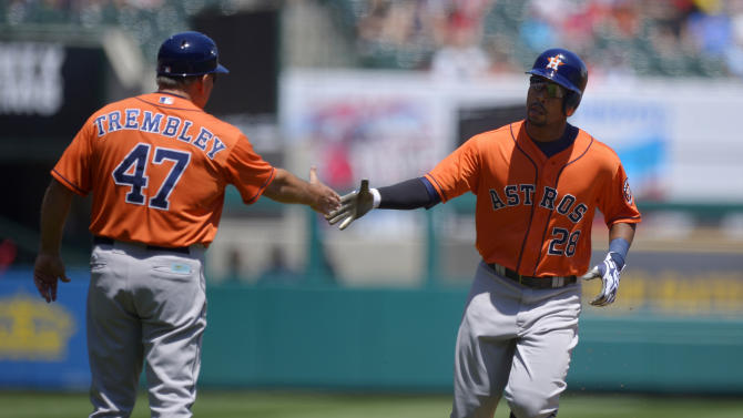 Matt Dominguez drives Astros past Angels again 7-5