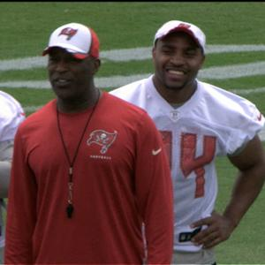 Tampa Bay Buccaneers head coach Lovie Smith mic'd at camp
