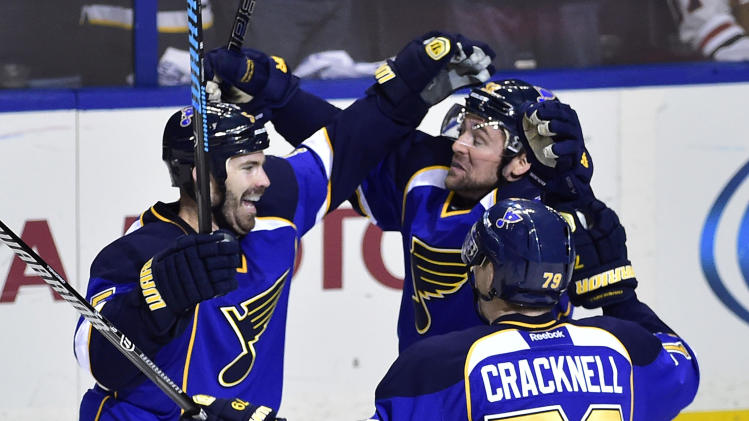 Barret Jackman another OT hero for Blues, up 2-0 on Blackhawks …