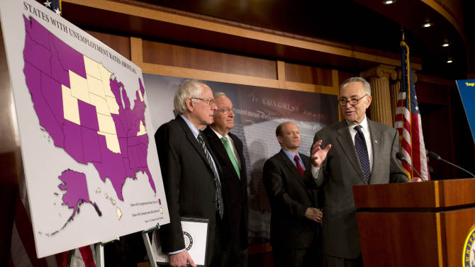 Democrats want jobless benefits in 'cliff' deal