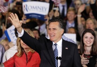 Mitt Romney wins the 2012 Florida primary.