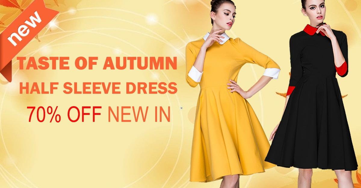 New Arrivals for Your Autumn-Dresses Never Stop