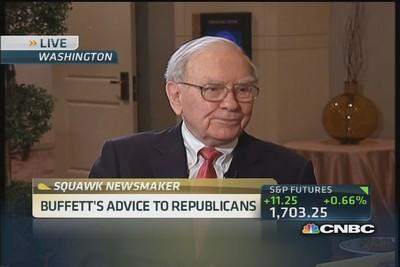 Buffett's advice to Republicans