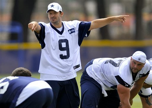 Romo in 10th Cowboys camp, doesn't seem that long