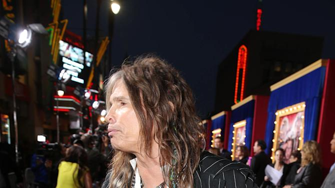 Steven Tyler at New Line Cinema's World Premiere of 'The Incredible Burt Wonderstone' held at Grauman's Chinese Theatre on Monday, Mar., 11, 2013 in Los Angeles. (Photo by Eric Charbonneau/Invision for New Line Cinema/AP Images)