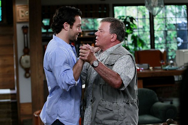 "Jonathan Sadowski as Henry Goodson and William Shatner as Ed Goodson in ""$#*! My Dad Says."""