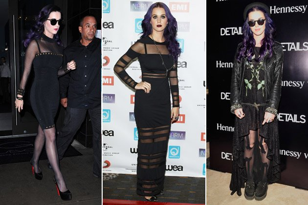 Black Beauty: Katy Perry liebt den Gothic-Style! (Bilder: Getty Images, Splash)