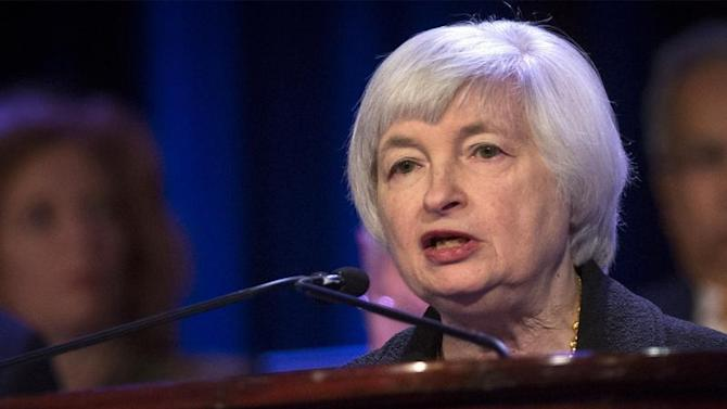 U.S. Federal Reserve chair Yellen speaks to the Economic Club of New York in New York