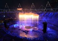 General view taken during the opening ceremony of the London 2012 Olympic Games at the Olympic Stadium in London