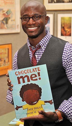 Taye Diggs and his new children's book, Chocolate Me. Stephen Lovekin/Getty Images North America