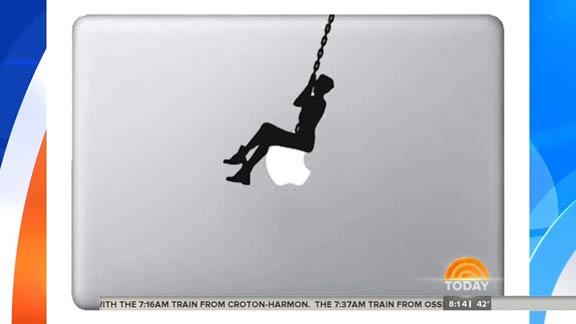 Miley Cyrus' 'Wrecking Ball' Apple Sticker