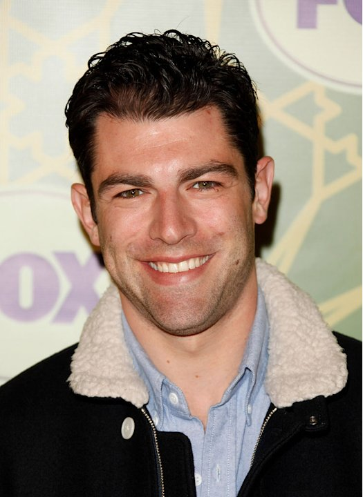 "Max Greenfield (""New Girl"") attends the 2012 Fox Winter TCA All-Star Party at Castle Green on January 8, 2012 in Pasadena, California."