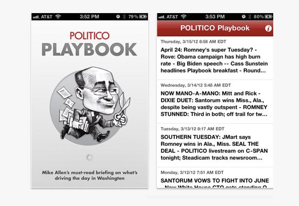 Politico Playbook Mobile