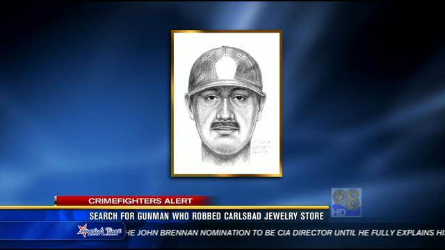 Search for gunman who robbed Carlsbad jewelry store