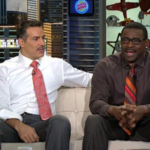 Kurt Warner tries to explain his mustache