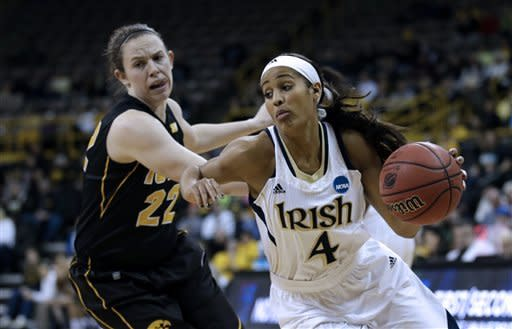 Notre Dame advances with a 74-57 win over Iowa