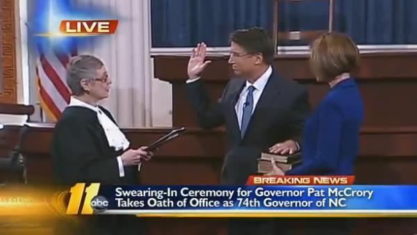 McCrory sworn in as new governor