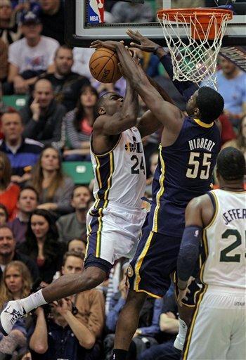 Jazz edge Pacers 114-110 in overtime