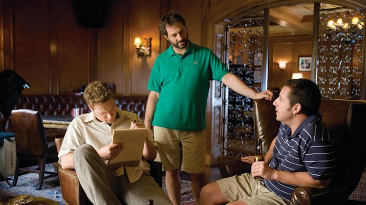 Seth Rogen Director Judd Apatow Adam Sandler Funny People Production Stills Universal 2009