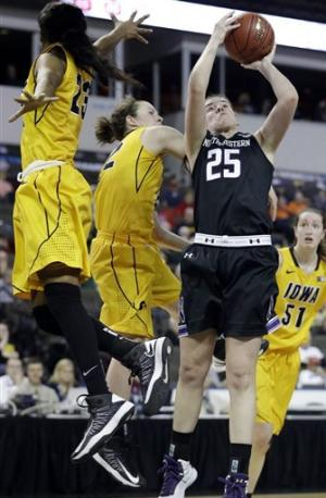 Iowa women defeat Northwestern 60-55