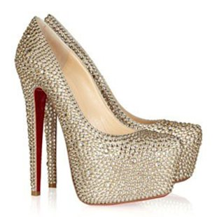 Christian Louboutin's Daffodile crystal-embellished suede pumps, $6,395 at net-a-porter.com