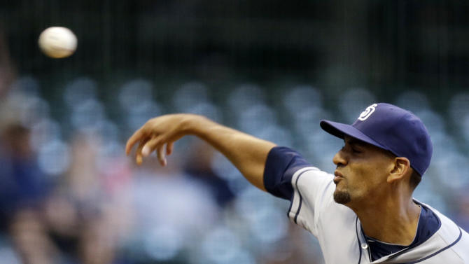 Hundley, Venable homer in Padres' win over Brewers